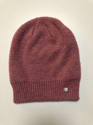 Esprit Gorro tejido rojo neón-rosa Acrílico