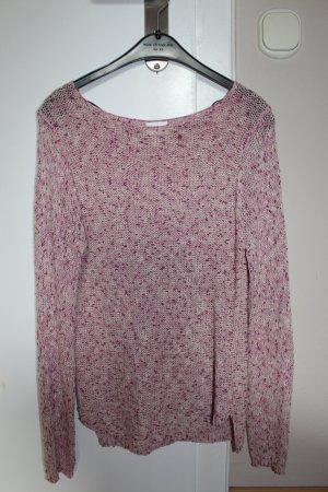 Rosa melierter Pullover