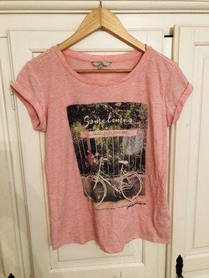 Rosa meliertes T-Shirt