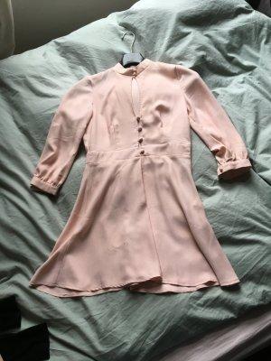 Rosa Mini Kleid mit Ausschnitt asos Retro Knopfleiste  3/4 Ärmel Vintage 60er  Style tailliert Blogger Trend
