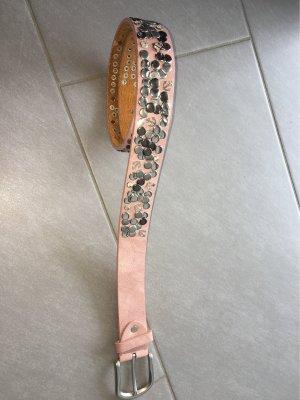 Cintura borchiata color oro rosa