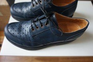 Zapatos brogue azul oscuro Cuero