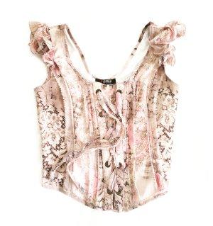 rosa/nude farbenes top true vintage