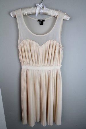 Rosa Nude Plissee Kleid H&M Gr. S Puderrosa