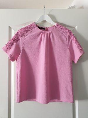 Zara Camiseta rosa-rosa