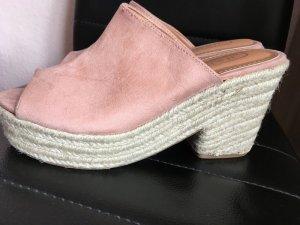 Sandalo con tacco multicolore