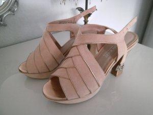 Marco Tozzi Platform High-Heeled Sandal multicolored textile fiber
