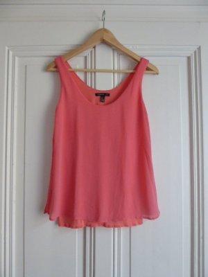 Rosa-Pink-farbenes Trägertop/Lagentop, Lace-Top
