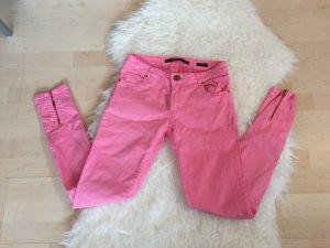 Rosa Pink zara skinny Jeans Röhre Reißverschluss Knöchel Hose