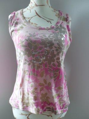 rosa / pinkes Tanktop mit Pailetten von Cinque