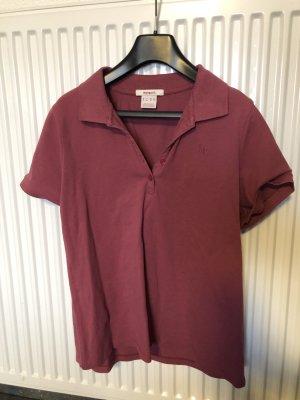 Manguun Camiseta tipo polo rosa