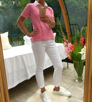 Rosa Poloshirt im Yachtingstyle