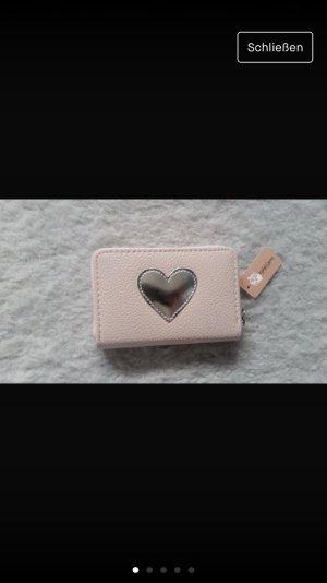 Portefeuille blanc-rose clair