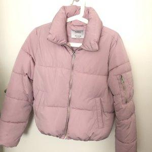 Bershka Winter Jacket dusky pink-pink