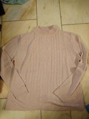 Jersey de punto rosa empolvado-rosa