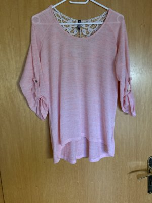 Rosa Pullover mit 3/4 Arm