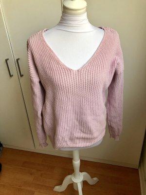 Nelly Maglione oversize color oro rosa-rosa