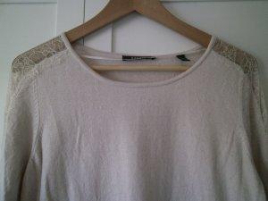 Rosa Pullover von Esprit, Größe L, mit Spitze von den Schultern bis zu den Armabschlüssen