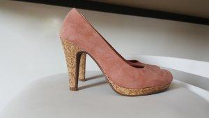van der Laan Tacones con plataforma beige-rosa