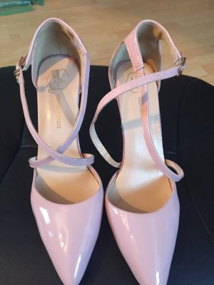 Strapped pumps rose-gold-coloured-pink