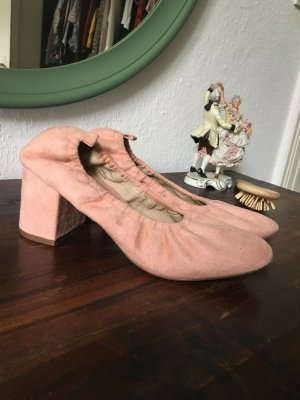 Rosa Pumps Wildleder Look like schick 40 Schuhe high heels Absatz