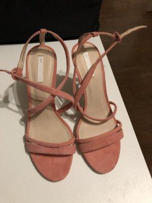 Rosa Riemchensandalen von H&M