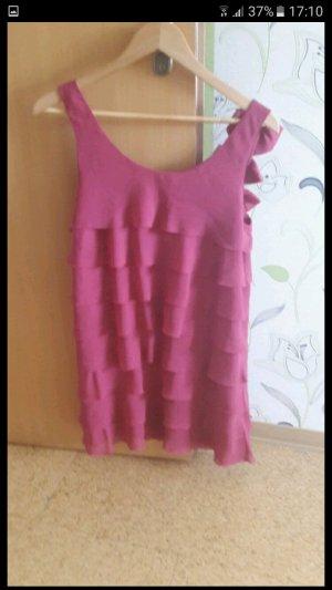 rosa Röschenkleid mit Schleifen