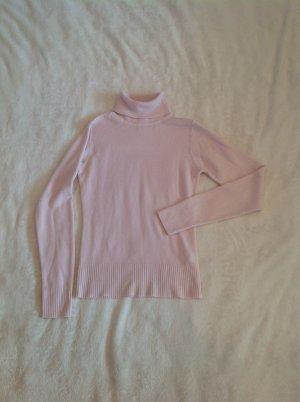 Rosa Rollkragenpullover in sehr weichem Stoff H&M in S