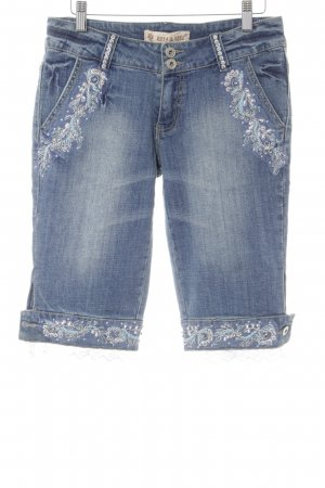 Rosa & Rose 3/4 Jeans florales Muster Casual-Look