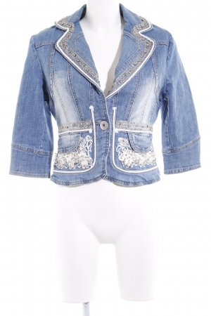 Rosa & Rose Jeansjacke florales Muster Casual-Look