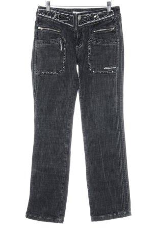Rosa & Rose Slim Jeans schwarz extravaganter Stil