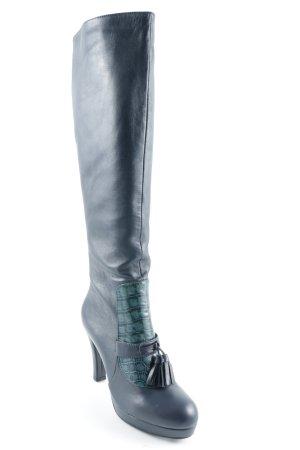 Rosa Rot Absatz Stiefel dunkelblau-kadettblau Elegant