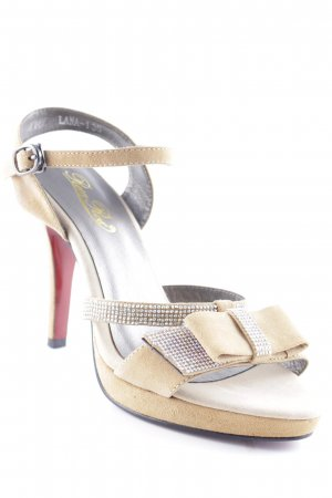 "Rosa Rot Strapped High-Heeled Sandals ""Lana 1"" camel"