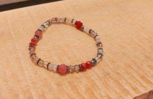 Rosa / rotes Armband von BIBA