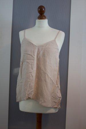H&M Haut dos-nu rosé tissu mixte