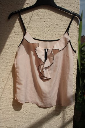 H&M Frill Top light pink-black