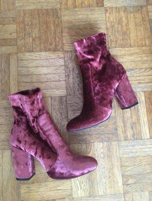 Rosa Samt Boots
