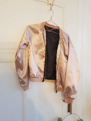 rosa satin bomberjacke gr. 38