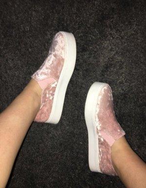 Rosa Schuhe mit Samt/Velours in Gr.37