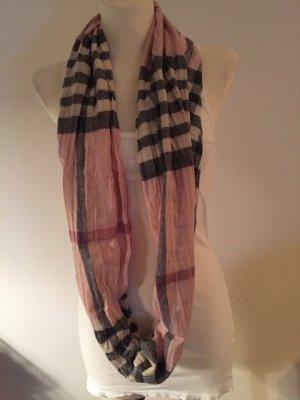 rosa-schwarz karierter Schlauchschal