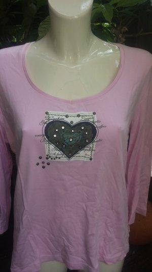 rosa Shirt LA mit Herzaufdruck