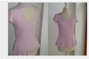 rosa shirt mit peplum xl