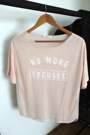 Rosa Shirt mit Schriftzug Mango