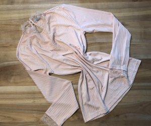 Rosa Shirt - Spitze - Stehkragen - M - NEU