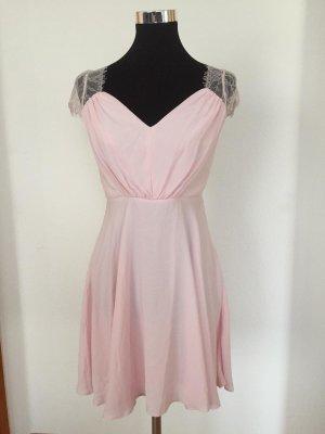 Asos Chiffon Dress light pink-pink polyester