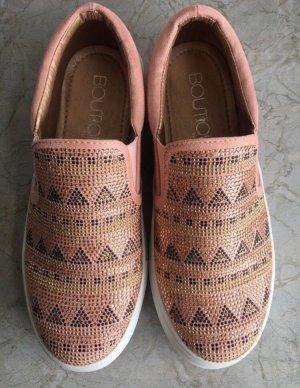 Rosa Sneaker mit Strass