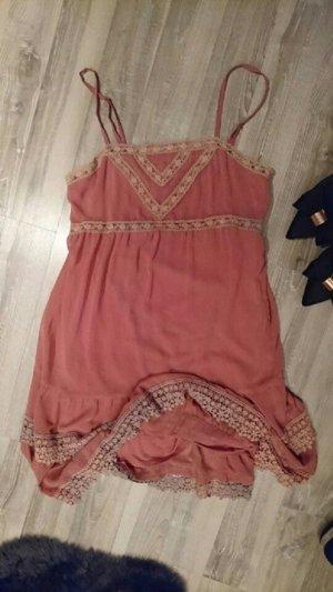 Rosa Spitzen-Kleid von Promod in 36