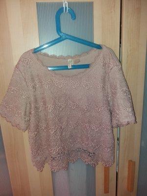 rosa spitzen T-Shirt