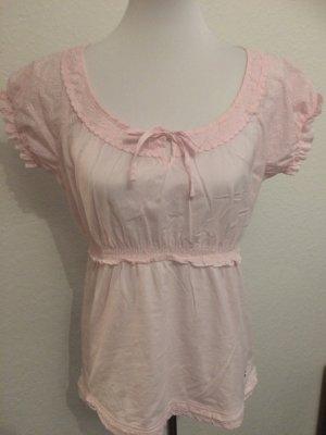 rosa Spitzenoberteil, Spitzenshirt, Shirt mit Spitze von Street One - Gr. 42