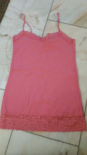 Amisu Top de encaje rosa-rosa